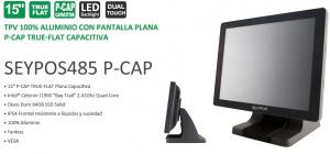 """TPV TACTIL 15"""" SEYPOS 485 P-CAP NEGRO 4GB 64SSD 1"""