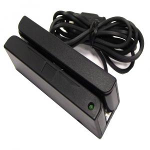 LECTOR DE BANDA MAGNETICA 3 PISTAS USB NEGRO 1
