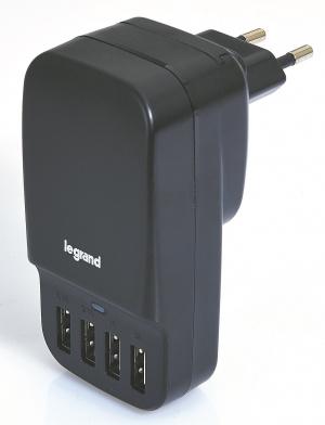 CARGADOR USB LEGRAND 4PUERTOS 6.8A 1