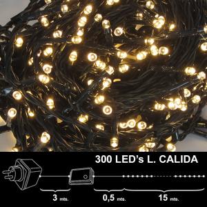 NAVIDAD LUCES 300 LEDS BLANCOS CALIDA INT/EXT IP44 1