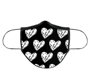 MASCARILLA DE TELA ADULTO D-COOL WHITE HEARTS 1