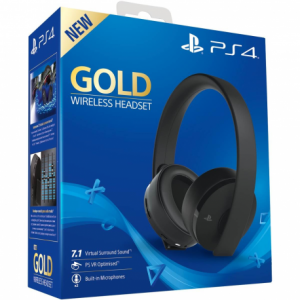 AURICULARES SONY PS4 GOLD INALAMBRICO BLACK 1
