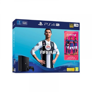 CONS. PS4 PRO 1TB + FIFA 19 + PS PLUS 1