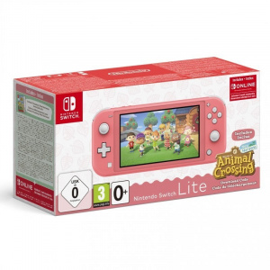 CONSOLA NINTENDO SWITCH LITE CORAL + ANIMAL CROSSI 1