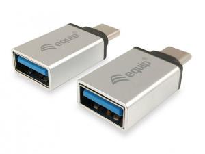 ADAPTADOR EQUIP USB-C M A USB H 3.0 2 PACK 1