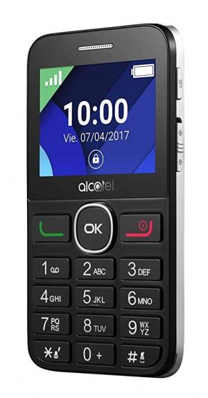 "TELEFONO MOVIL ALCATEL ONETOUCH 20.08G PLATA 2.4"" 1"