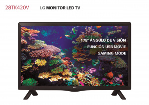 """TELEVISION 28"""" LG 28TK420V-PZ HD READY TDT2 1"""