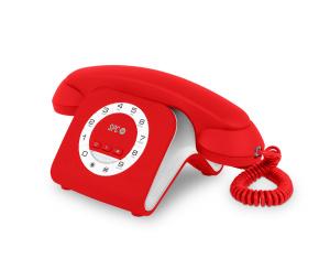 TELÉFONO FIJO DE DISEÑO SPC RETRO ELEGANCE MINI 3609R 1