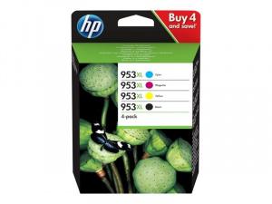 CARTUCHO HP 953XL PACK 3 COLORESY NEGRO C/M/Y/BK 1