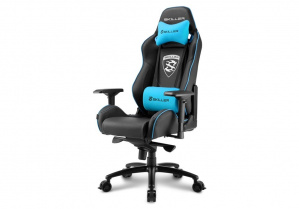 SILLA GAMER SHARKOON SKILLER SGS3 NEGRA AZUL 1