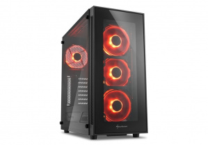 CAJA ATX SHARKOON TG5 GLASS RED 1