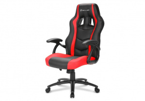 SILLA GAMER SHARKOON SKILLER SGS1 NEGRA ROJA 1