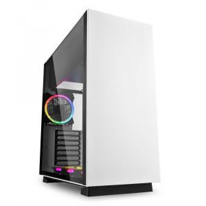 CAJA ATX SHARKOON PURE STEEL RGB WHITE 1