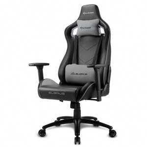 SILLA GAMER SHARKOON ELBRUS 2 NEGRO GRIS 1