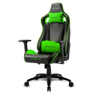 SILLA GAMER SHARKOON ELBRUS 2 NEGRO VERDE 1