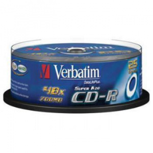 CD-R 700MB VERBATIM 52X TARRINA 25U 1