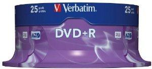 DVD+R VERBATIM 4.7GB 16X ADV AZO PACK 25U 1