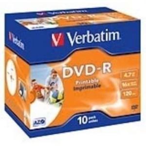 DVD-R VERBATIM -R 16X 4.7GB PK.10 PRINTABLES 1
