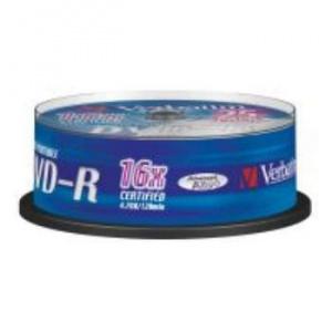 DVD-R VERBATIM 4.7GB 16X IMPRIMIBLE PACK 25U 1