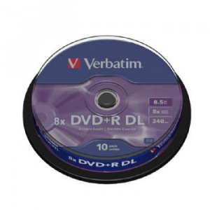 DVD+R VERBATIM DOUBLE LAYER 8X 8.5GB TARRINA 10 1