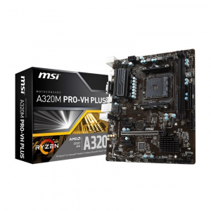 PLACA BASE AM4 MSI A320M PRO-VH PLUS MATX/USB 3.1/DVI/VGA 1