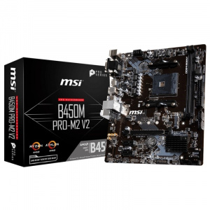 PLACA BASE AM4 MSI B450M PRO-M2 V2 MATX/USB 3.1/HDMI/M.2 1
