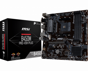 PLACA BASE AM4 MSI B450M PRO-VDH PLUS MATX/USB 3.1/HDMI/M. 1