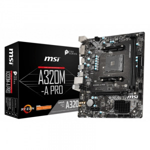 PLACA BASE AM4 MSI A320M-A PRO MATX/USB 3.2/DVI/HDMI 1