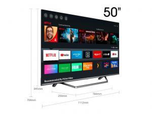 """TELEVISION 50"""" HISENSE 50U7QF ULED 4K HDR SMART TV IA 1"""