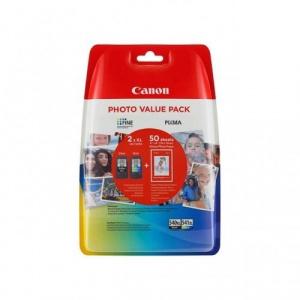 CARTUCHO CANON  PG-540XL Y 541XL + PAPEL 1