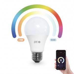 BOMBILLA LED INTELIGENTE SPC AURA 800 RGB Y BLANCO 1