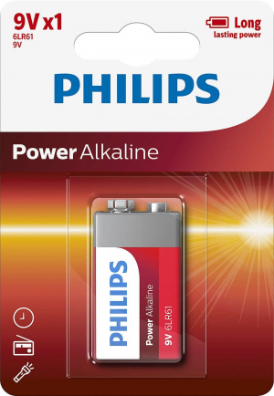 PILAS PHILIPS POWER ALKALINE 9V 1