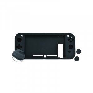 SILICONA ANTID.+2GRIPS+FILM NUWA NEGRA PARA SWITCH 1