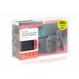 CONSOLA NINTENDO SWITCH GRIS PACK+SILIC+PROT 1