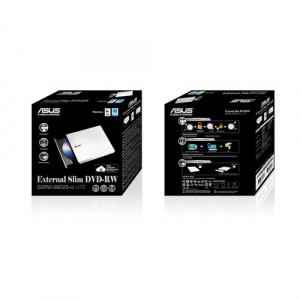 REGRABADORA DVD EXT. ASUS SLIM SDRW08D2S-W BLANCA USB2.0 1