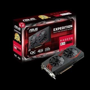 SVGA AMD ASUS EX-RX 570-O4G  4GB DDR5 DVI/HDMI/DP 1