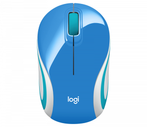 RATON LOGITECH WIRELESS M187 MINI AZUL 1