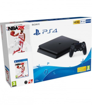 CONS. PS4 SLIM 500GB NEGRA + NBA 20K21 1