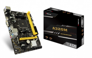 PLACA BASE AM4 BIOSTAR  A320MH MATX 1