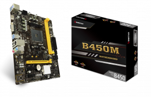 PLACA BASE AM4 BIOSTAR  B450MH MATX 1