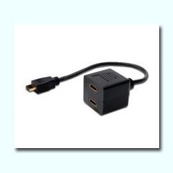 CABLE BIFURCADOR HDMI 1XM / 2XH 20CM 1