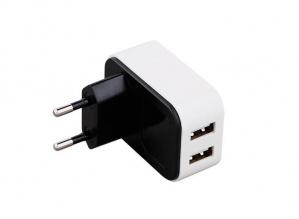 ALIMENTADOR USB DE HOGAR 2 PUERTOS 4A 3GO 1