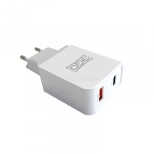 CARGADOR 3GO HOGAR USB 1QC3+1USB-C 1