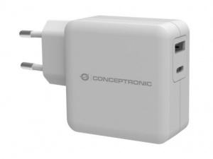 CARGADOR CONCEPTRONIC USB / USB-C 30W BLANCO 1