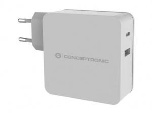 CARGADOR CONCEPTRONIC USB / USB-C 60W BLANCO 1