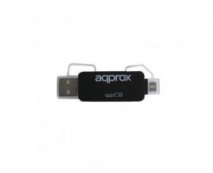 ADAPTADOR APPROX MICRO SD/ SD/ MMC ADAP. TO USB 1