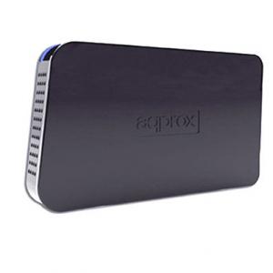 """CAJA EXTERNA HDD 2.5"""" SATA-USB 3.0 APPROX NEGRA 1"""