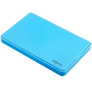 "CAJA EXTERNA HDD 2.5"" SATA-USB 2.0 APPROX AZUL CLARO 1"