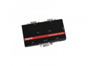 DATA SWITCH KVM 3X1 APPROX USB/VGA 1