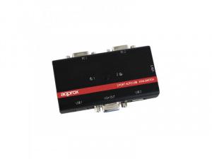 DATA SWITCH KVM 2X1 APPROX USB/VGA 1